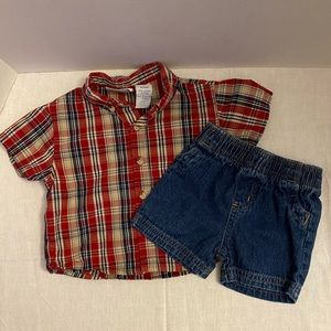 Mini Wear/Garanimals Baby Boy's 2-Piece Outfit